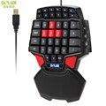 Delux t9 47-key profesional/sola mano esport wired gaming keyboard usb con $ number niveles de led retroiluminado iluminado luz de fondo
