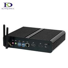 2017 kingdel Новый безвентиляторный Mini PC kaby Lake i7 7500U микро Настольный ПК Intel HD Графика 620 4 К HTPC 16 г оперативной памяти + 128 г SSD 500 г HDD