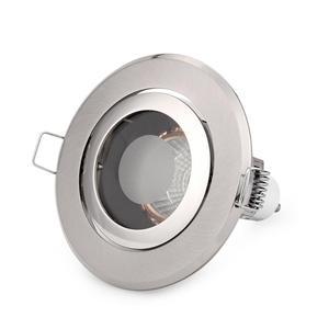 Image 4 - Free Shipping 8PCS IP44 recessed Ceiling light holder round MR16 spotlight halogen lamp fixtures