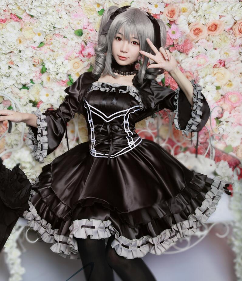THE IDOLM STER Cinderella girls Anime Cosplay Kanzaki Ranko Halloween Party Woman Japanese Gothic Lolita Dress