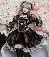 THE IDOLM@STER Cinderella girls Anime Cosplay Kanzaki Ranko Halloween Party Woman Japanese Gothic Lolita Dress Cosplay Costume