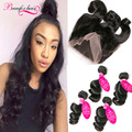 360 Lace Frontal Closure With Bundles Loose Wave Weave Indian Virgin Hair With Closure 4 Bundles Loose Wave With Frontal Closure