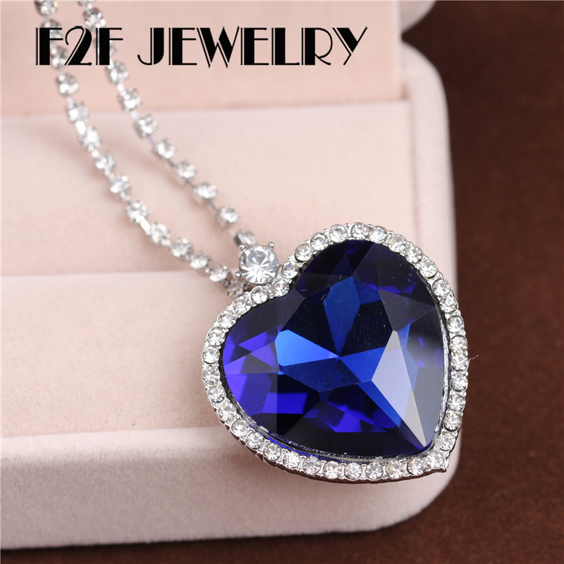 Classic titanic heart of the ocean blue c pendant necklaces for classic titanic heart of the ocean blue c pendant necklaces for women jewelry xl074 in pendant necklaces from jewelry accessories on aliexpress aloadofball Image collections