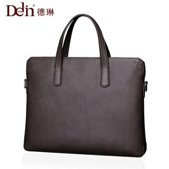2018 ДЕЛИН Для мужчин женские сумки кожаные Портфели Для мужчин мешок сопротивление Водонепроницаемый Оксфорд сумка