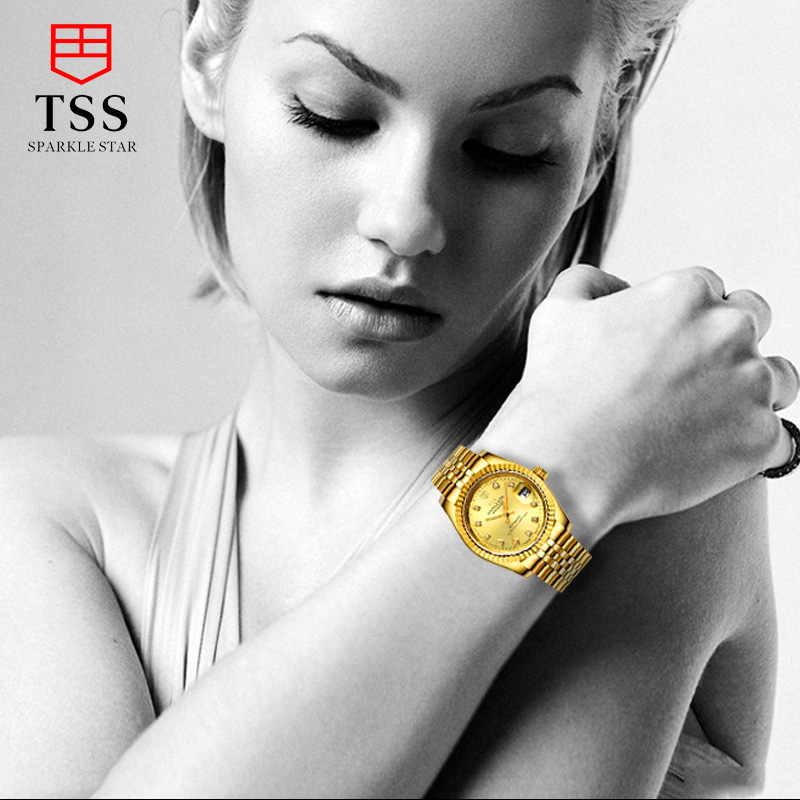 TSS T8002 oyster perpetual datejust watches women luxury brand automatic mechanical watch golden diamonds relogio femininoTSS T8002 oyster perpetual datejust watches women luxury brand automatic mechanical watch golden diamonds relogio feminino