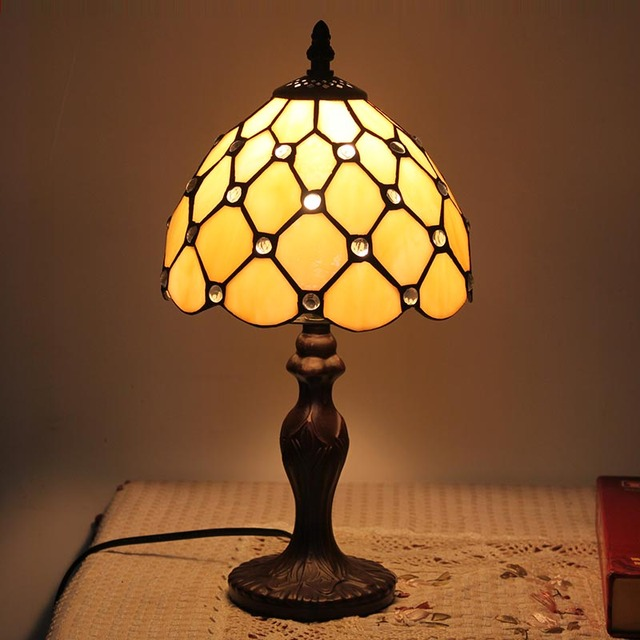 Tiffany style classic table lamp handcrafted vintage stained glass tiffany style classic table lamp handcrafted vintage stained glass lamps fashion night lights for restaurant bar mozeypictures Image collections