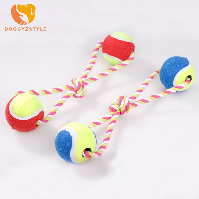 Durable Rope Braided Ball Dog Chew Toys Puppy Cotton Chewing Ball Bone Knot Indestructible Toy Aggressive Chewers DOGGYZSTYLE