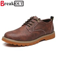 Break Out New Men Shoes For Men Business Dress Shoes Leather Lace Up Breathable Big Size