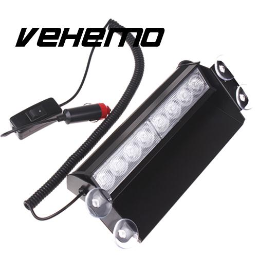 Vehemo 12V 8LED Fire Car auto Vehicle Deck Truck Strobe Flash Warning Light Emergency Super ultra bright DIY