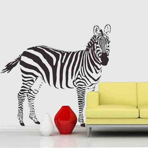 Zebra Bedroom Vinyl Wallpaper DIY Wall Decals Zebra