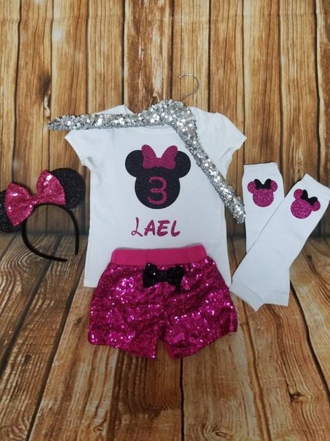 personalize Minnie Mouse Birthday Outfit bodysuit onepiece Tutu toodles  legwarmers Outfit Set baby shower party gifts dfbd5c277814