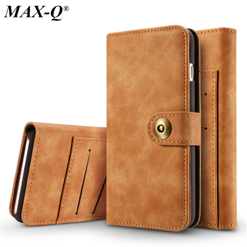 MAX-Q Luxury Retro PU Leather Mobile Phone