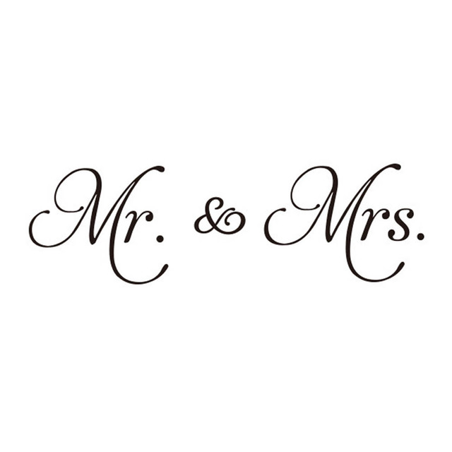 new couple mr mrs diy wall stickers living room decor removable