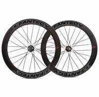 700C 60 мм Глубина 25 мм ширина дисковый тормоз дороги углерода колеса довод/Tubular диск Велокросс углерода колесная с Новатек концентратор
