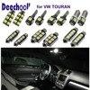 7pcsxLED Car Interior Light Bar Kit In Xenon White For VW Touran Parking LED Car Front