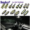 7pcsxLED Car Interior Light Bar Kit In Xenon White For VW Touran Parking LED Car Front