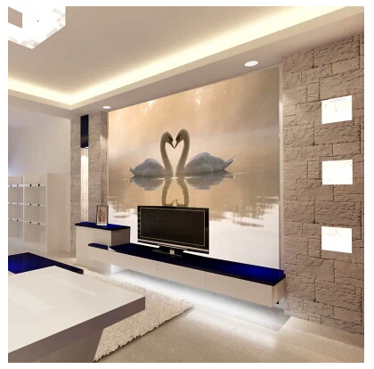 Comprar mural papel tapiz de fondo sof tv for Papel tapiz estilo mural