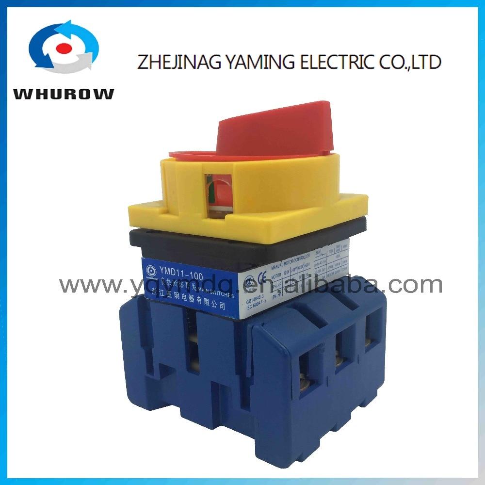 Isolateur commutateur YMD11-100A commutateur de coupure de charge universelle puissance cut off sur-off 100A 3 P arrivée cam commutateur ruban contacts