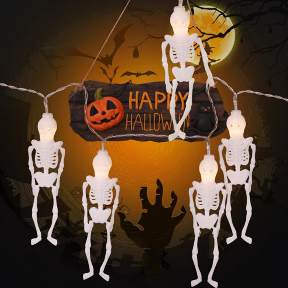 Skeleton Shaped Lights Halloween Decorative Lights Garden Party Garland String Light For Outdoor Decoration 1.5m 3m 4.5m JQ