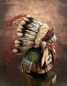 Image 4 - Unassambled  1/10 ancient Leader of the Plains man bust   Resin figure miniature model kits Unpainted