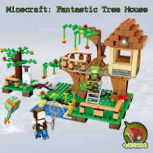 New JX Fantastic Tree House My world Minecraft Building Blocks Bricks Toys For Children Gift legoe Figures Lepin minifigures