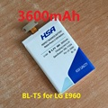 3600mAh BL-T5 BL T5 Battery For LG Nexus 4 BL-T5 E975 E973 E960 F180 LS970 Optimus G E970 battery