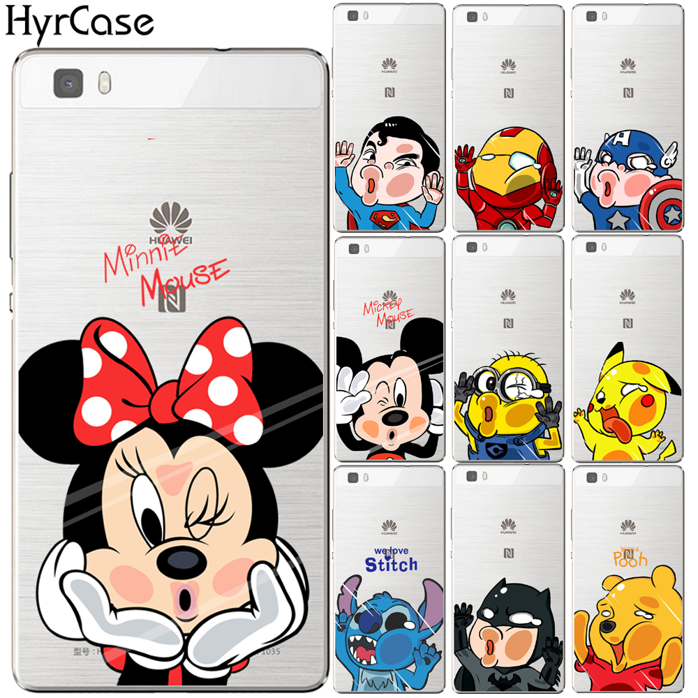 Mickey Minnie Soft TPU Silicon Case <font><b>Cover</b></font> For <font><b>Huawei</b></font> P8 P9 <font><b>P10</b></font> P20 <font><b>Lite</b></font> Plus Mate 10 Pro Y5 Y6 II Y3 Y7 2017 Honor 9 6X 7X image