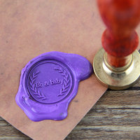 Custom Initial Monogram Wax Seal Stamp