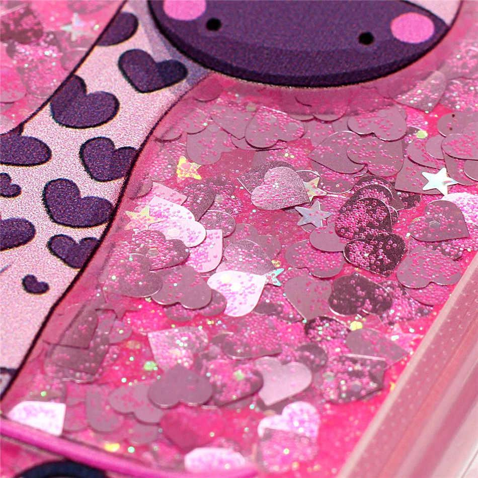 Милый мягкий чехол для телефона Xiaomi A1 5X Redmi S2 Y2 6 Pro 6A Note 4X5 Plus 5A задняя крышка жидкий Дельфин пони Блестящий Капа D03Z