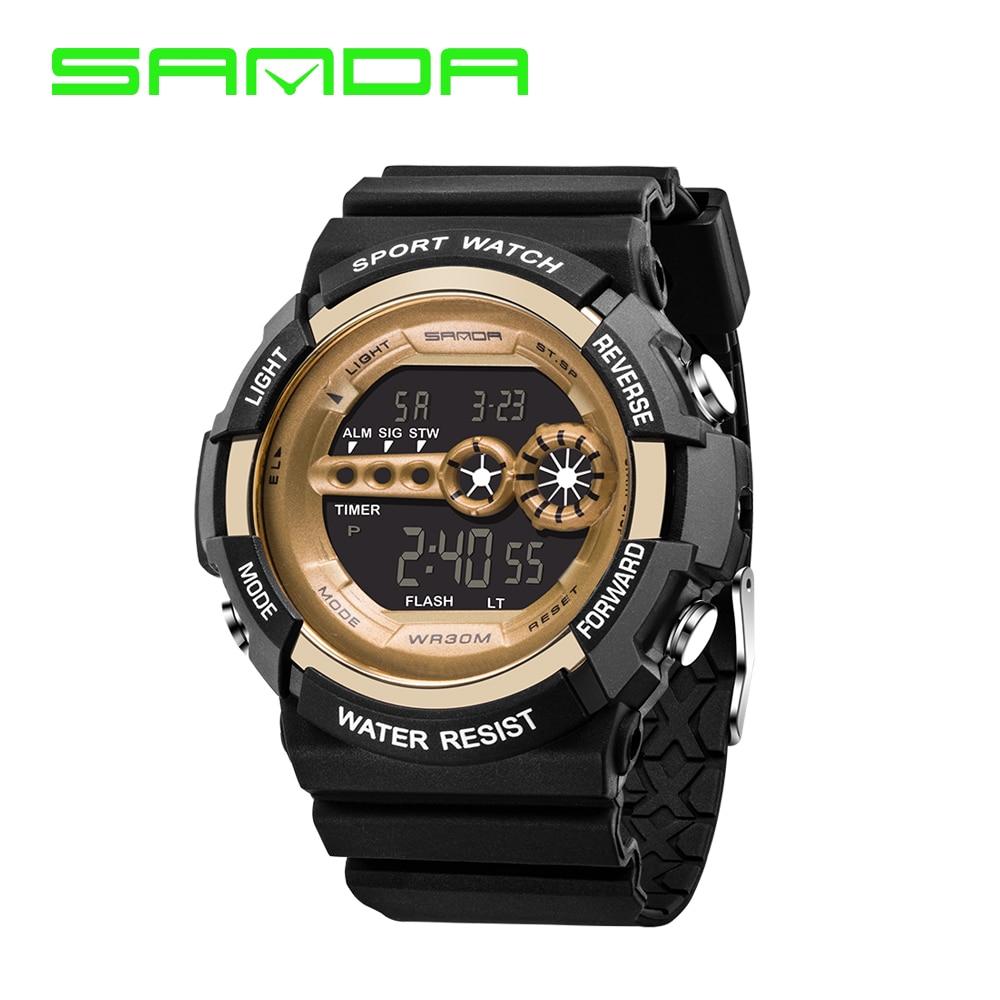 3d49823dfd56 Nuevo reloj electrónico del LED Digital Reloj de Los Hombres Del Deporte  Militar Impermeable Relojes de Cuarzo de Pulsera S Choque Dual tiempos  Clásicos 80g ...