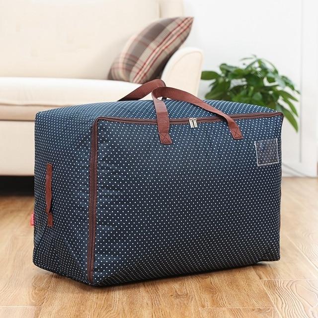 Утолщение ткани оксфорд одеяло для хранения больших одеяло мешки одежды сортировки мешки коробка мягкая