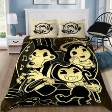 Bendy And The Ink Machine Game Cartoon Elegant Classic 3D Bedding Sets Printed Duvet Cover Set Queen King Twin Size