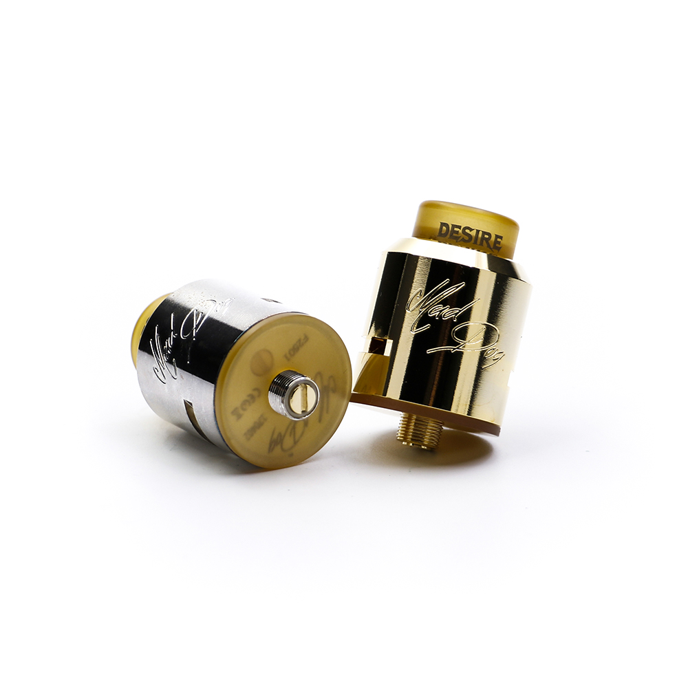 Big sale! Desire Mad Dog RDA Atomizer 24mm luxurious rebuildable dripper atomizer with double convex 2-post build decks
