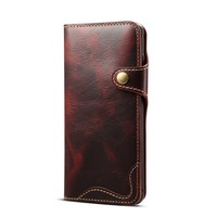 For Samsung S10+ S9 Plus S10e Note 9 8 Flip Case Genuine Real Cow Leather Cowhide Card Wallet Purse Cover Etui Handy Hulle Coque