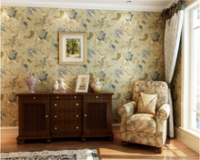 beibehang Luxury Pastoral American papel de parede Wallpaper Living Room Backdrop Bedroom Vintage Village Pure Paper Wall paper
