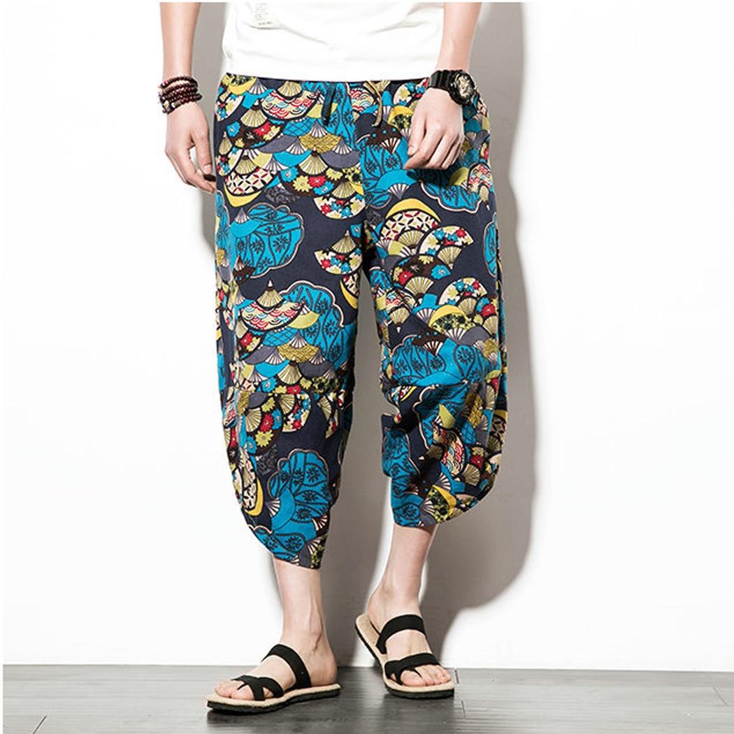 Clothing Leg-Trousers Harem-Pants Loose Japanese-Style Cotton Linen Plus-Size Casual