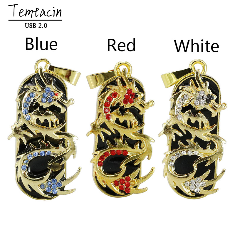 Mini Metal USB Flash Drive Hot Sale Dragon USB Stick PenDrive 8GB 16GB 32GB 64GB Jewelry ...