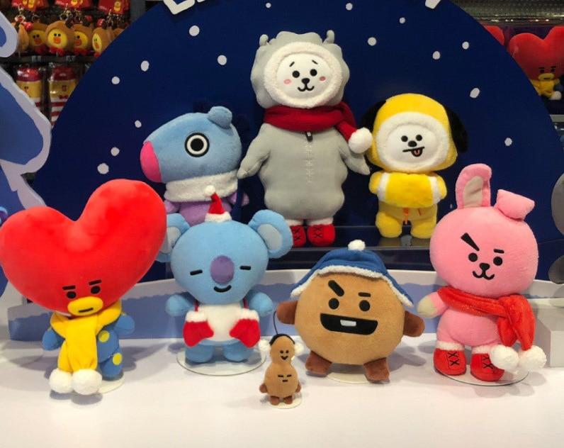 Kpop hause neue für BTS bangtanboys Umliegenden BT21 Weihnachten gleiche TATA CHIMMY COOKY nette cartoon puppe plüsch spielzeug
