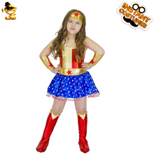 Nice DSPLAY Girls Captain America Costume Lovely Dress With Star Printed  Superhero Cartoon Costumes For Halloween Gift Girls Suit In Girls Costumes  From Novelty ...
