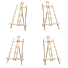 MEEDEN 4 PCS 15 7 Inch Medium Wood Display Easel Natural Color for Canvas Artwork Painting