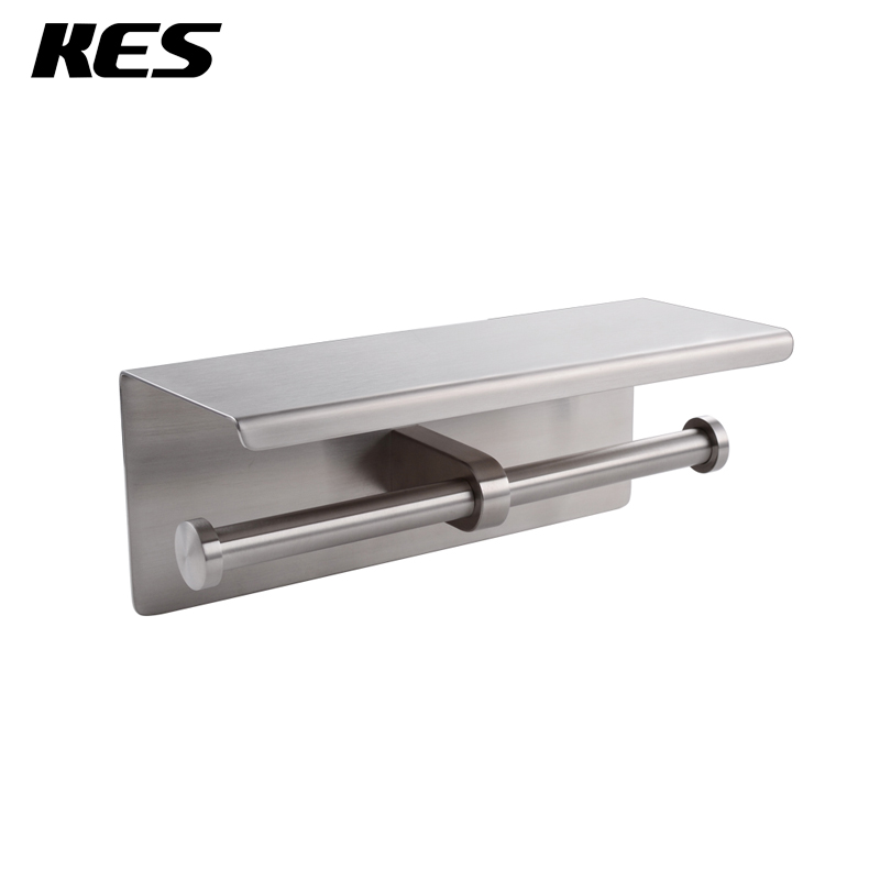 Buy kes toilet double roll tissue paper holder wall mount sus304 stainless - Stainless steel toilet paper dispenser ...