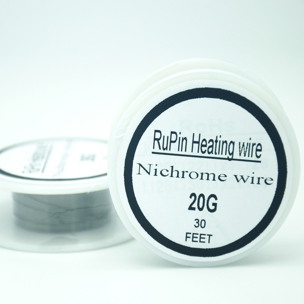 RuPin Heating Wrie Nichrome wire 20 Gauge 30 FT 0.8mm Resistance  Resistor AWG