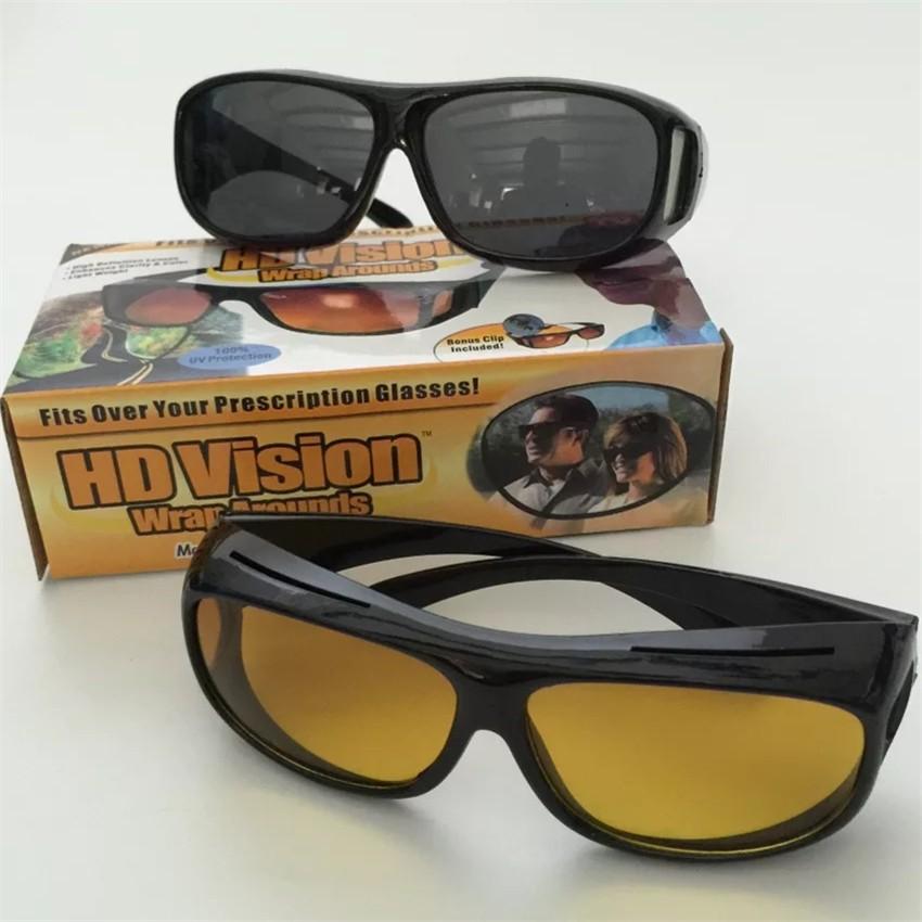 dc0efadd3ab 2Pcs HD Night Vision Wraparounds Wrap Around Glasses HD Vision Visor ...