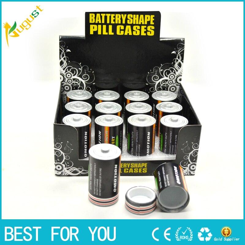 480pcs/lot Free Shipping Battery Secret Stash Diversion Safe Pill Box Hidden Money Coins Container Case