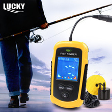 LUCKY Brand Wired Fish Finder Alarm Portable Depth Sounder with LCD Display 100M Echo Sounder Sona for Fishing FFC1108-1