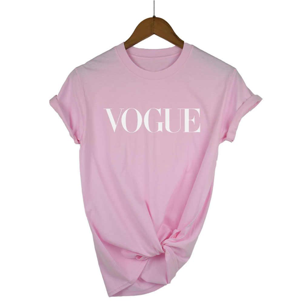 2018 100% Cotone di moda lettera stampata donne maglietta traspirante casual t shirt da donna o-collo delle donne top tee shirts