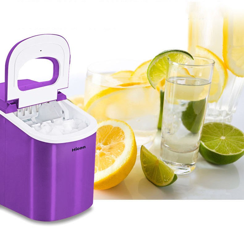 Commercial Ice Maker Portable Clear Cube Ice Machine For Restaurant Home 95W