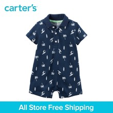 97f520c19ccf 1pcs Short sleeves cotton handsome surf print Polo Romper Carter's baby Boy  Summer Spring bodysuits clothing 118H023