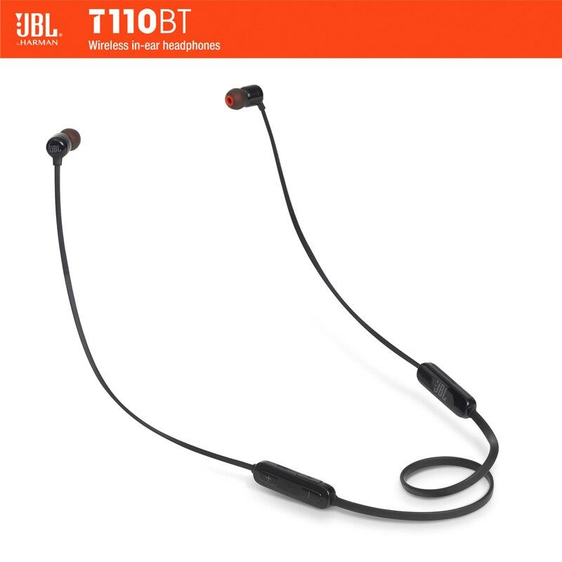 JBL T110 BT Sans Fil Bluetooth Écouteurs 3-Bouton À Distance Avec Micro Portable Musique Course à Pied Bass Sound Casque Pour smartphone