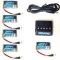 Lipo Батареи 3.7 В 400 мАч 30C для JJRC H31 Водонепроницаемый Беспилотный Оригинальный Li-батареи H31-011 JJRC H31 Батареи + 5in1 кабель зарядное устройство